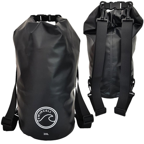Dry bag back pack straps SwimCell
