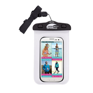 SwimCell waterproof case for phone white with insert and lanyard