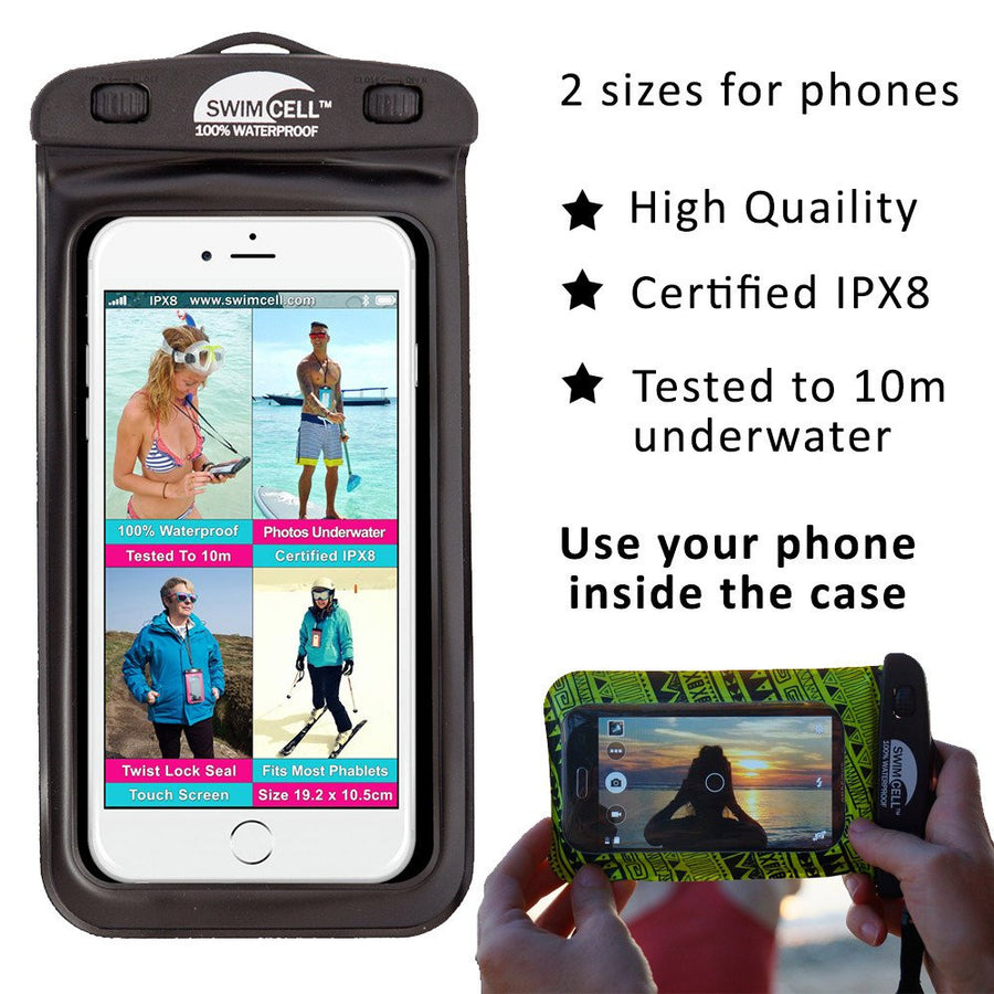 new arrivals 588ab e6392 SwimCell 100% Waterproof Case for Phone, Tablet, Money and Keys.