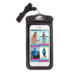 SwimCell Waterproof Case For Phone Black With Strap