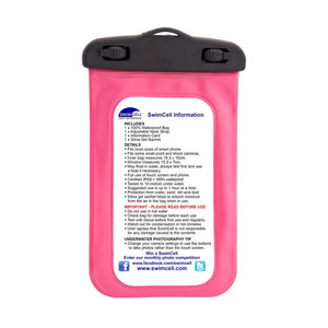 SwimCell waterproof case pink instructions