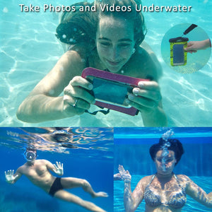 Swimming with phone underwater in SwimCell Waterproof phone case
