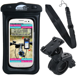 SwimCell Waterproof Phone Case with Bike Mount. (10.5cm x 17cm)