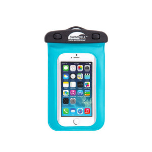 Waterproof Case for iPhone Blue SwimCell with iPhone