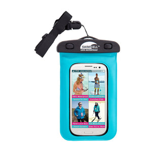 Waterproof Case for iPhone Blue SwimCell with lanyard