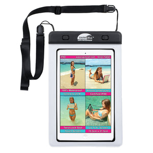 SwimCell Small white Tablet waterproof case
