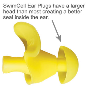 SwimCell Waterproof Ear Plugs for Swimming. Adult Size.
