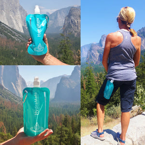 HydraMate foldable bottle for hiking adventures 750ml