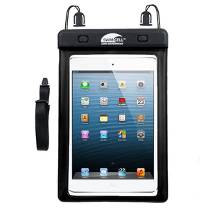 SwimCell Small Black Tablet waterproof case with ipad mini