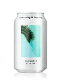 SELTZER CUCUMBER 330ml | Something & Nothing