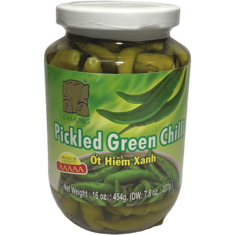 Pickled Green Chilli - CHANG Brand (454g)