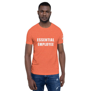 Not for Sale - Home Deport - Proposed Template - Essential Employee (front) / Logo (left sleeve) - white text - For more information please contact at:  info@covidessentialaf.com