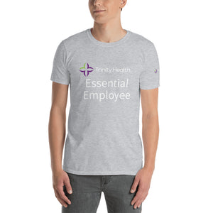 NOT for Sale - Trinity Health - Template - Logo & Essential Employee (front) / Logo (left sleeve) - white text - for more information email: ifno@covidessentialaf.com