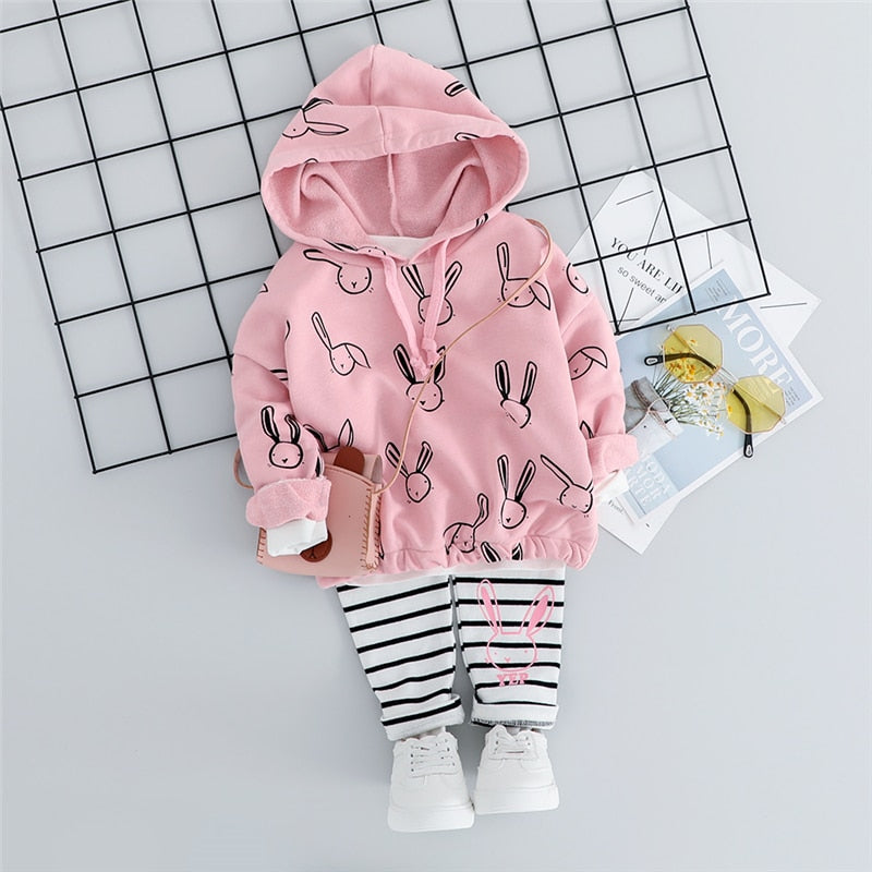 Rabbit World - Set (2 Pezzi Felpa + Pantaloni) (2 Varianti)