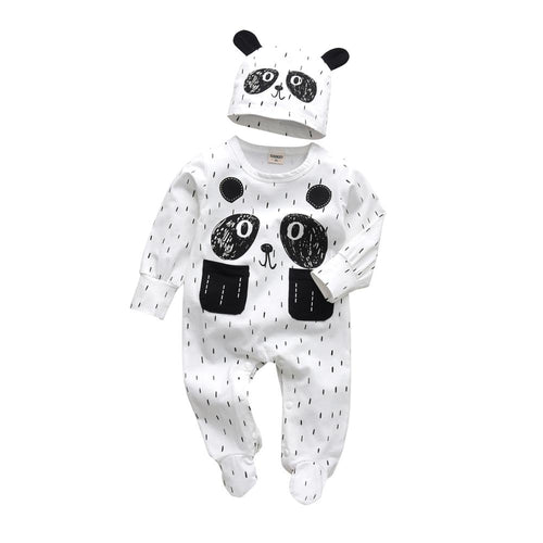 Panda Lover - Set (2 Pezzi Tuta Intera + Berretto)