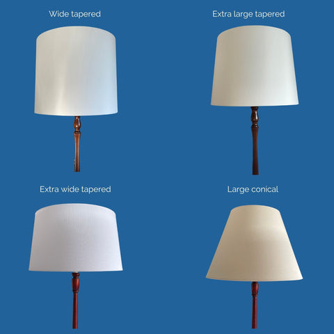 Comparison of different shapes of extra large shades