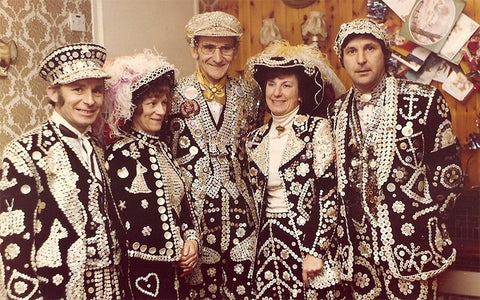 Group of pearly kings and queens