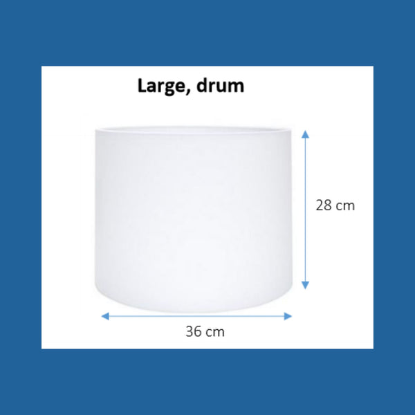Dimensions of a large drum lampshade.