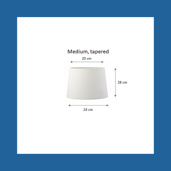 Dimensions of a medium tapered lampshade.