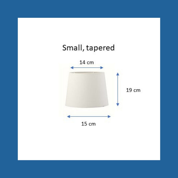 Dimensions of a small tapered lampshade.