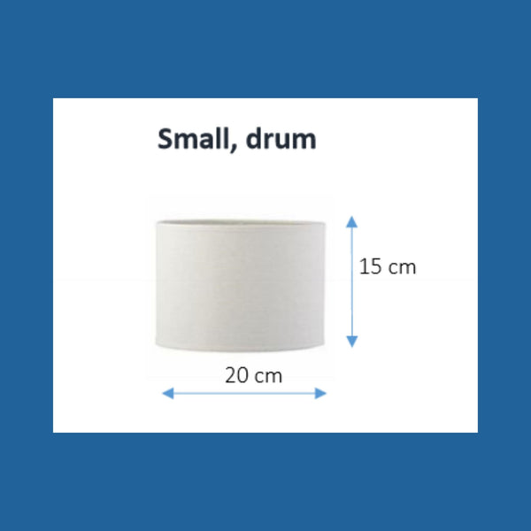Dimensions of a small drum lampshade.