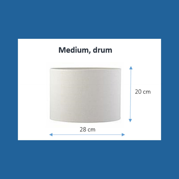 Dimensions of a medium drum lampshade.