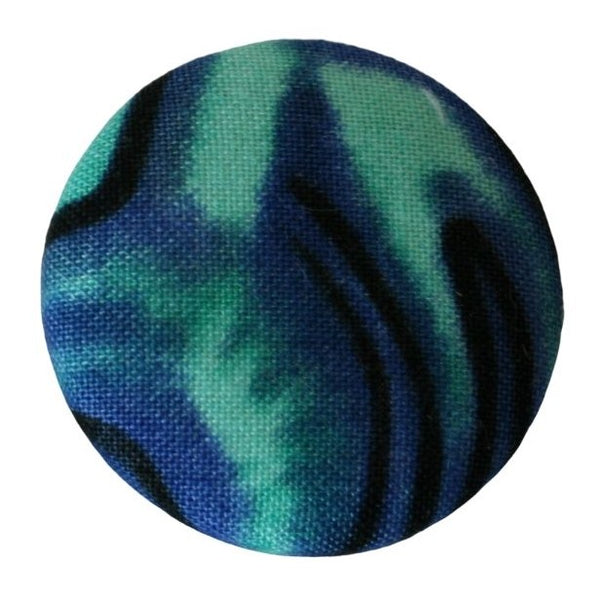 Blue fabric badge, brooch or pin.