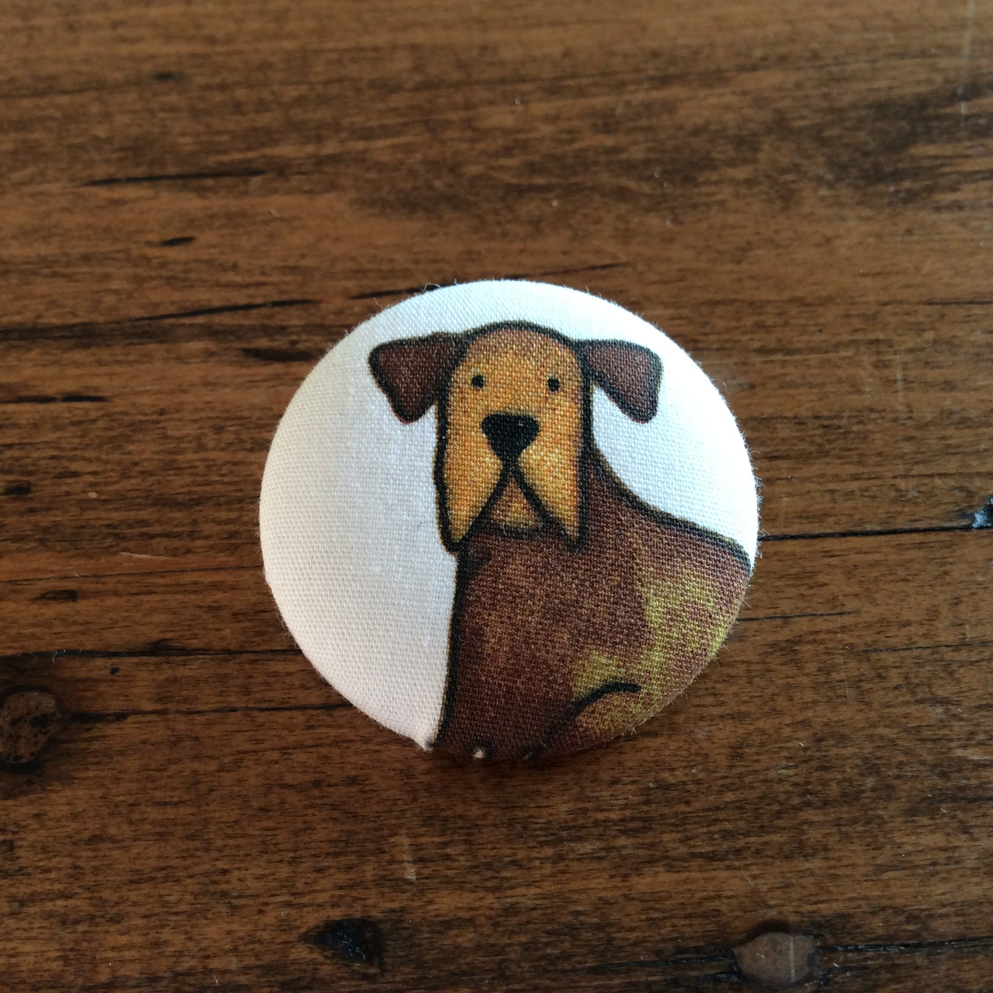 Adorable dog badge