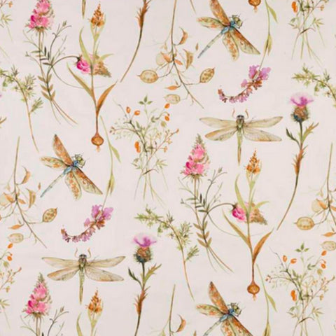 Dragonfly pink-cream fabric