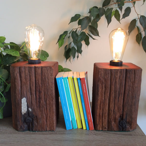 Edison Lamp - Book Ends Pair