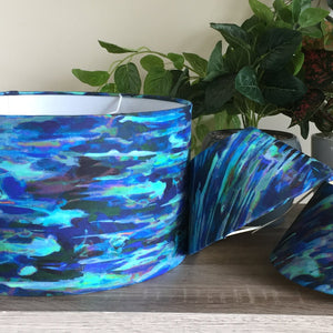 Enchanted blue stripe lampshade