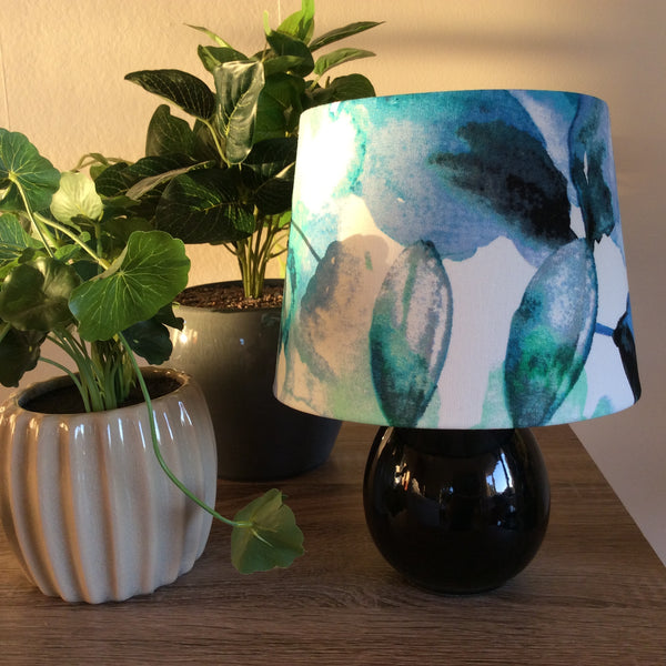 Water colour fabric lampshade