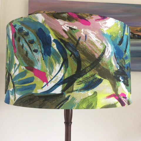 Multi-coloured leaves lampshade