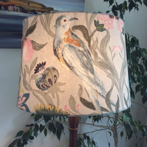 Birds on tapestry lampshade