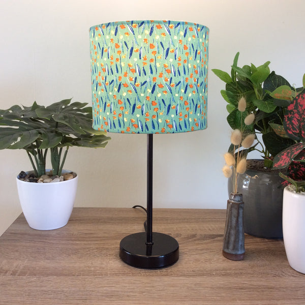 Japanese blossom fabric lampshade