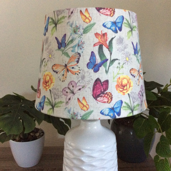 Butterflies and flowers lampshade