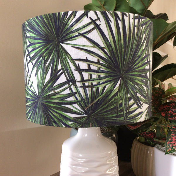 Palm fabric lampshade