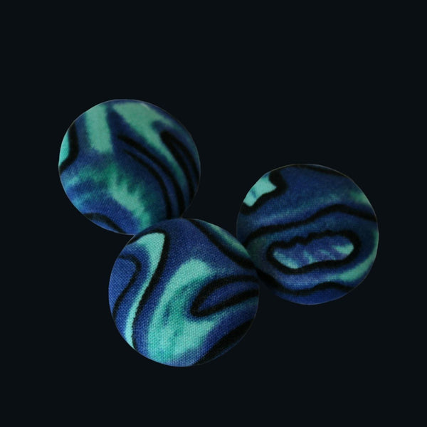 Blue paua badge