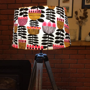 Pink tulips lampshade
