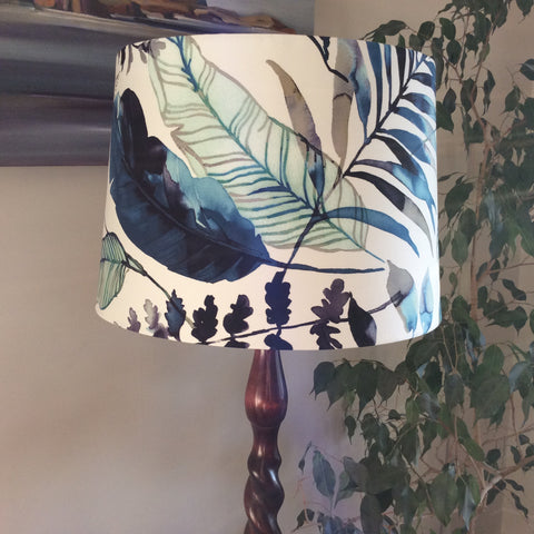 Watermark palm fabric lampshade