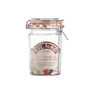 Kilner Facetted Clip Top Jar - 0.95L