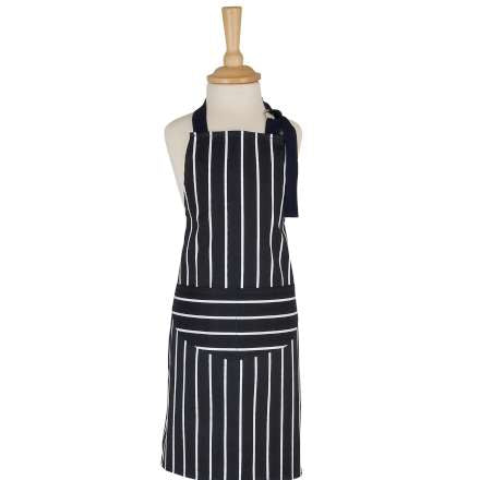 Rushbrooks Children's Butchers Stripe Apron - Navy