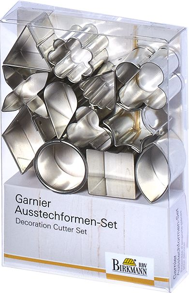 Decoration Cutter Set Tea Time, 12-pieces, Tinplate