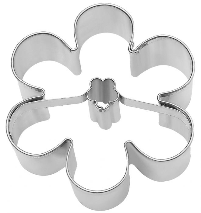 Cookie Cutter Summer Flower, 6.5cm Stainless Steel