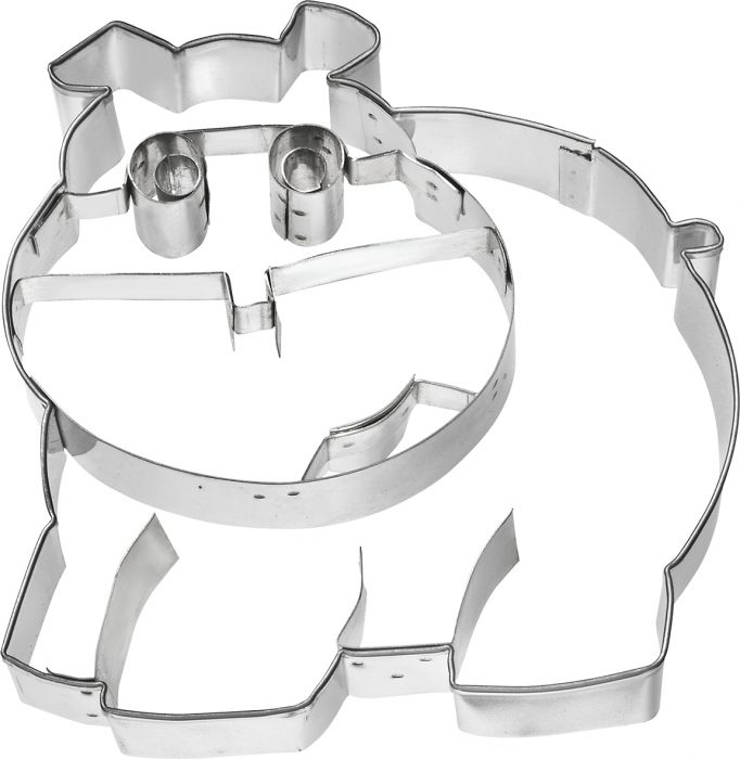 Cookie Cutter Hippopotamus, 11cm Stainless Steel