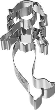 Cookie Cutter Mermaid, Stainless Steel 13cm