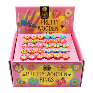 Pretty Wooden Rings (Each)