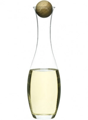Sagaform White Wine Decanter with Oak Stopper