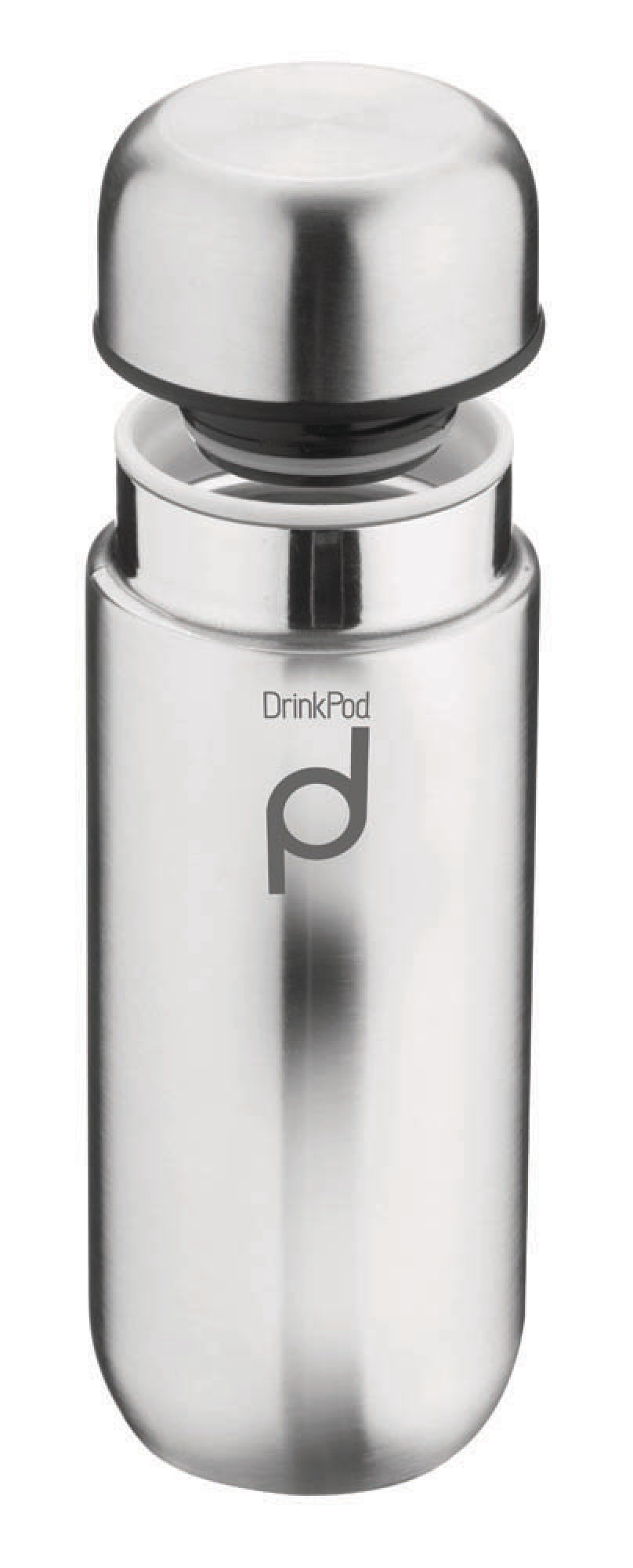 Grunwerg 200ml Drink Pod Insulated Flask - Stainless Steel