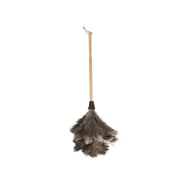 Valet Ostrich Feather Duster with Beech Handle - Medium